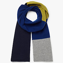 Buy John Lewis Block Colour Cashmere Scarf Online at johnlewis.com