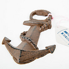 Buy Men's Society Cast Iron Anchor Bottle Opener, Brown Online at johnlewis.com