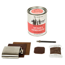 Buy Men's Society Make Your Own Hip Flask And Leather Case Kit Online at johnlewis.com
