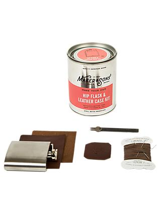 Men's Society Make Your Own Hip Flask And Leather Case Kit