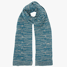 Buy Kin by John Lewis Space Dye Scarf, Turquoise/Grey Online at johnlewis.com