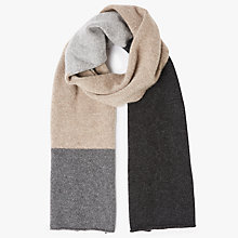 Buy John Lewis Cashmere Block Colour Scarf, Grey Online at johnlewis.com