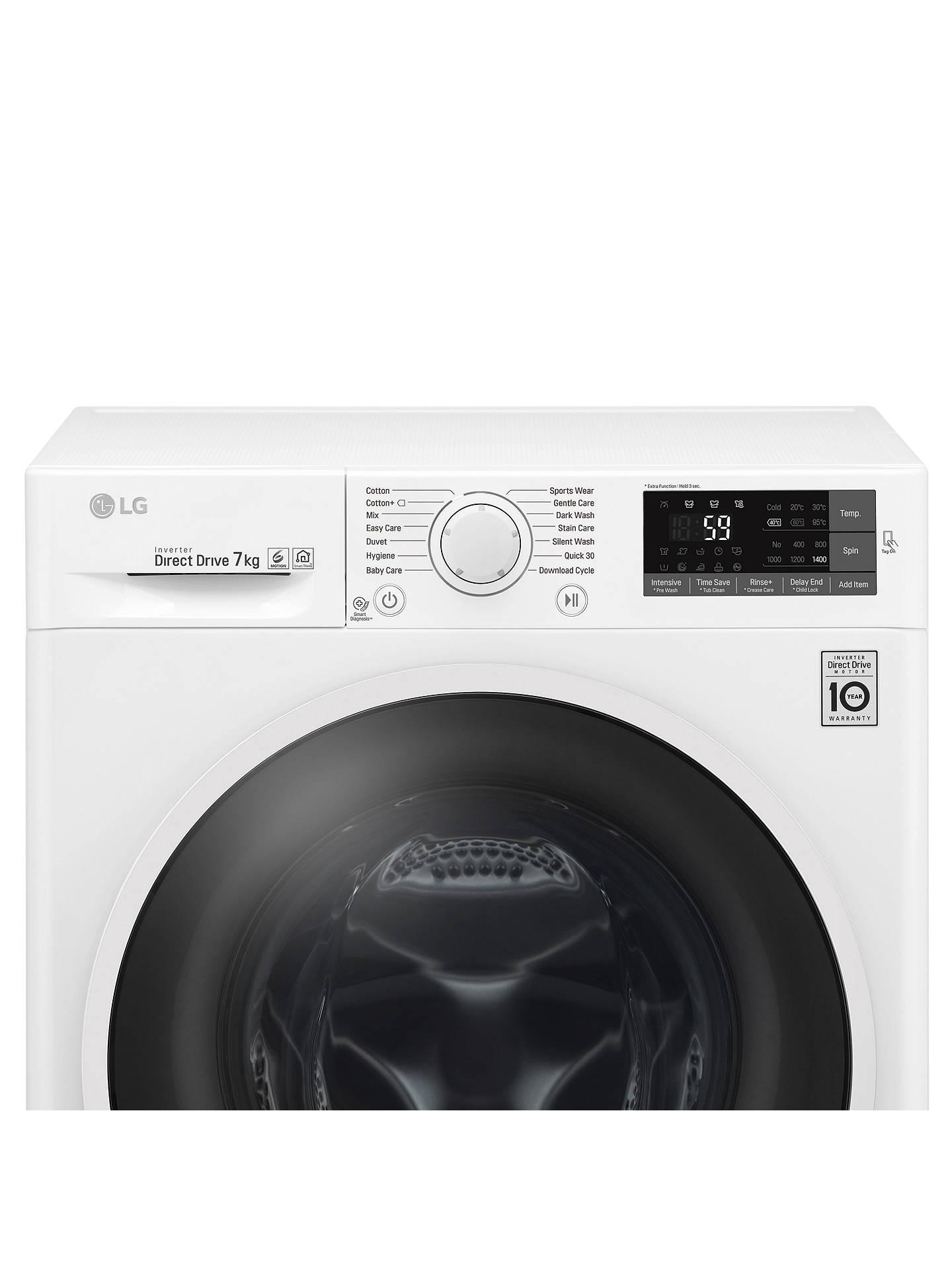 LG F4J6QN0WW Freestanding Washing Machine, 7kg Load, A+++