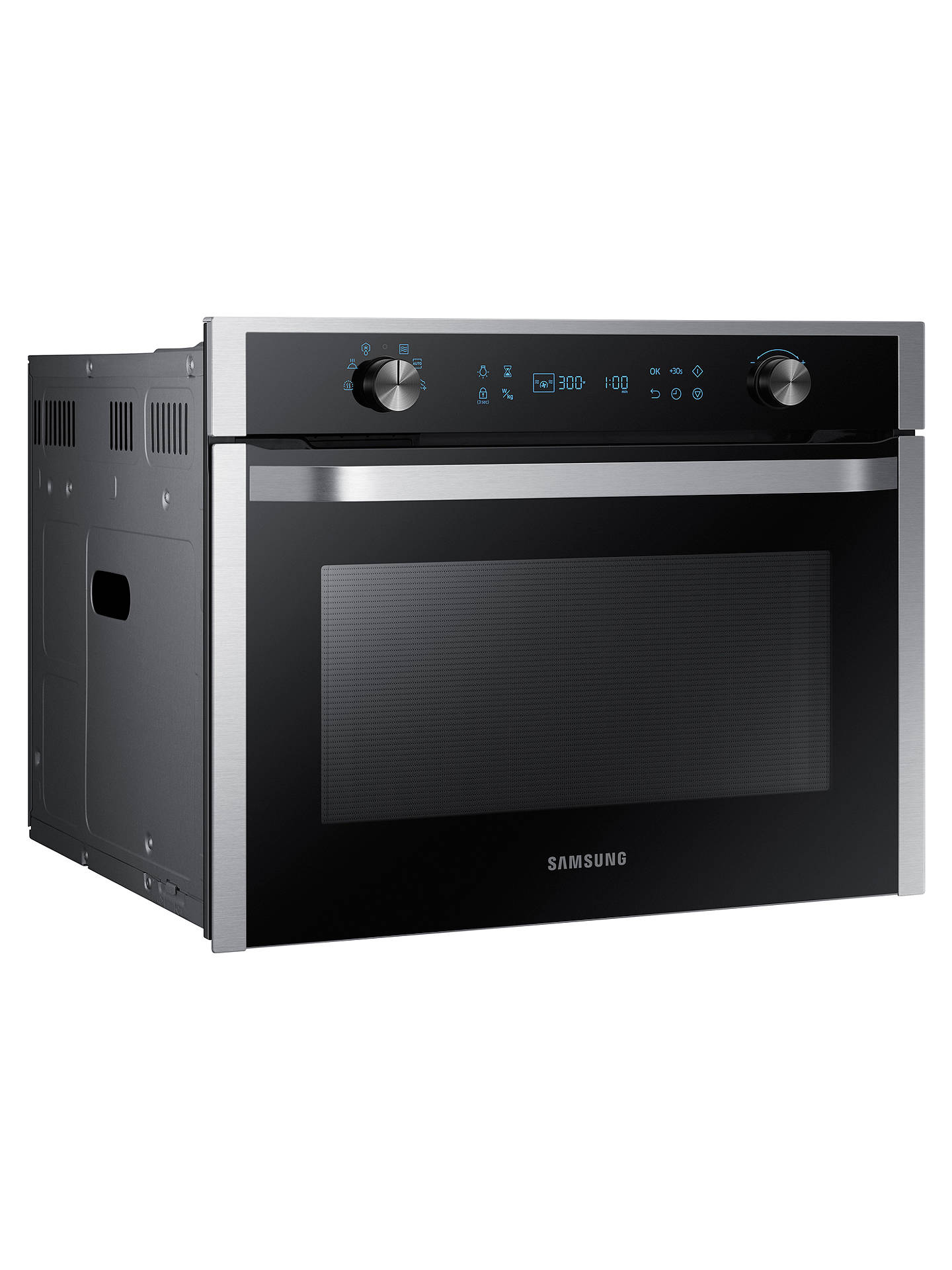 BuySamsung NQ50K5130BS/EU Built-In Microwave, Black/Stainless Steel Online at johnlewis.com