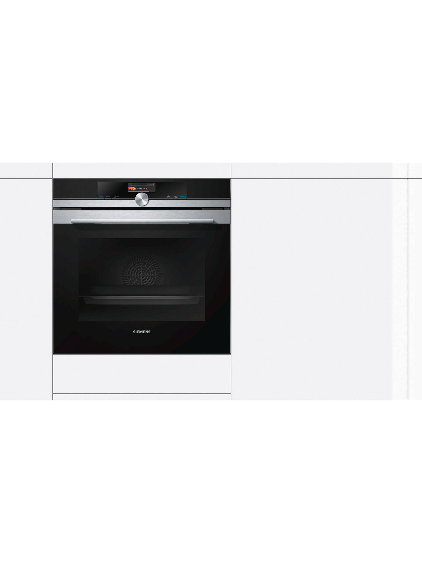 BuySiemens HB676GBS6B Built-In Oven with Home Connect, Black/Stainless Steel Online at johnlewis.com