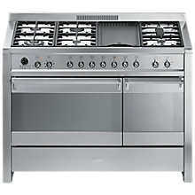 Buy Smeg A3-7 Dual Fuel Range Cooker, Stainless Steel Online at johnlewis.com