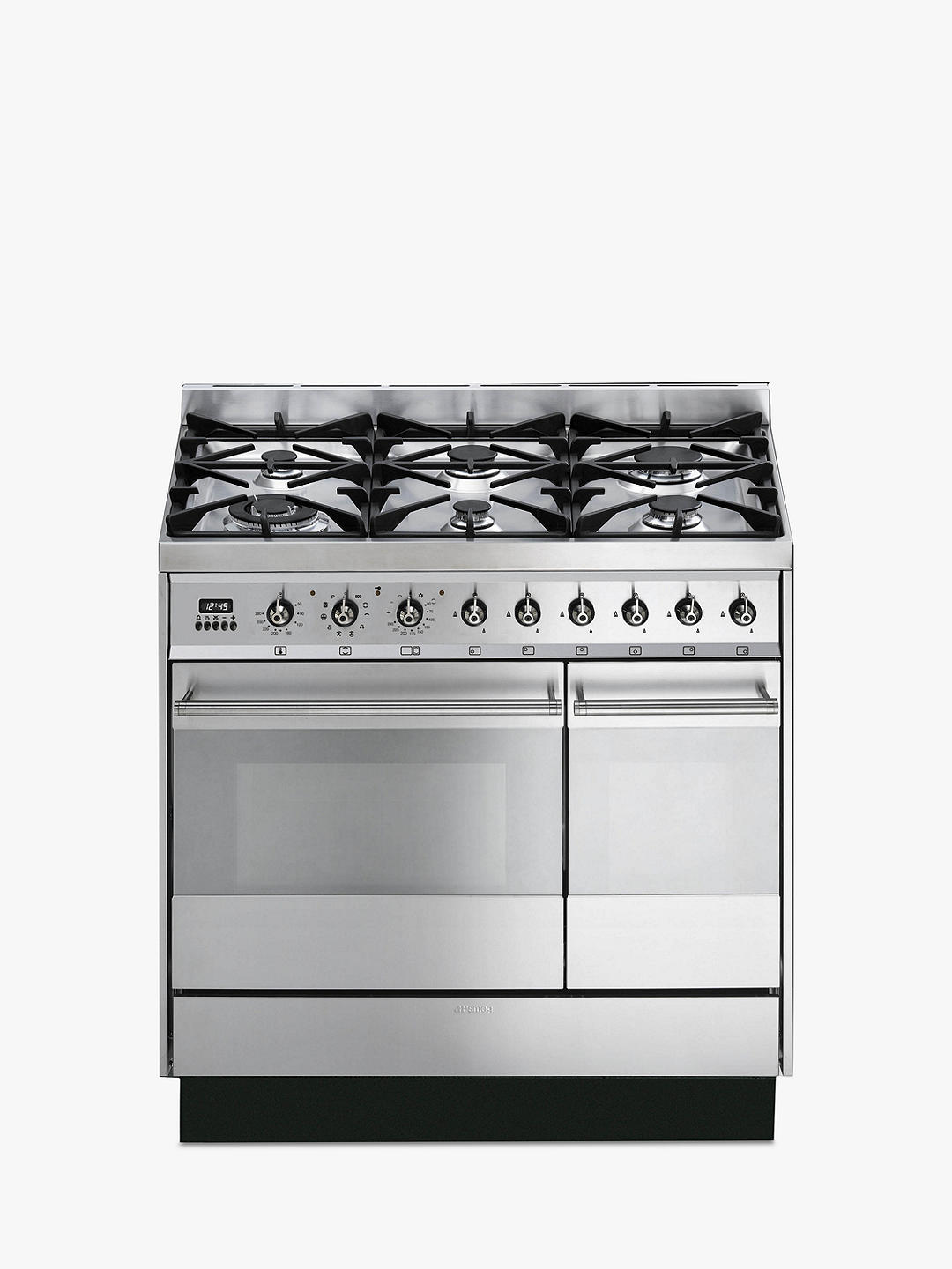Buy Smeg SY92PX8 Dual Fuel Range Cooker, Stainless Steel Online at johnlewis.com