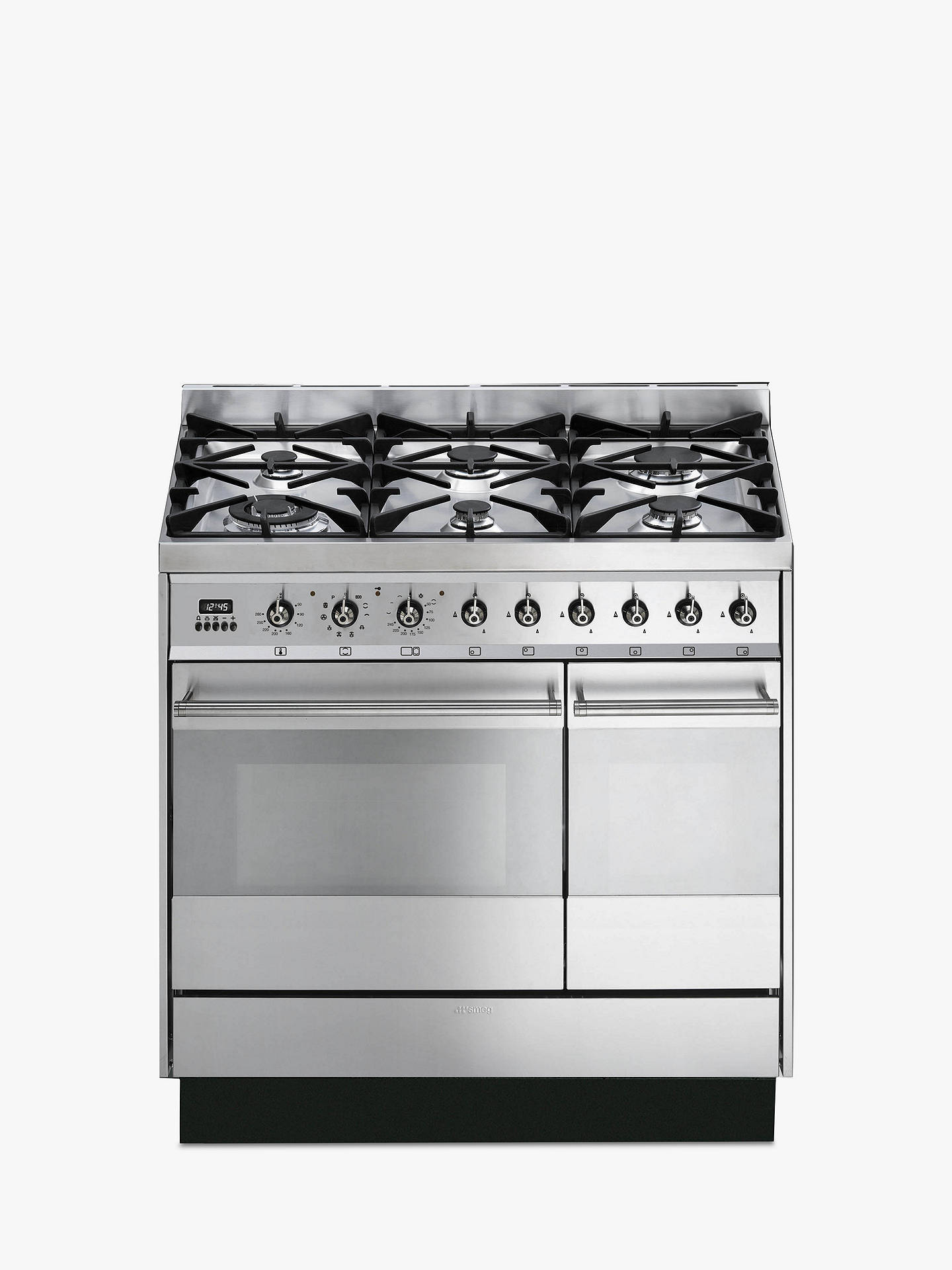 BuySmeg SY92PX8 Dual Fuel Range Cooker, Stainless Steel Online at johnlewis.com