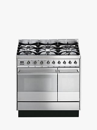 Smeg SY92PX8 Dual Fuel Range Cooker, Stainless Steel