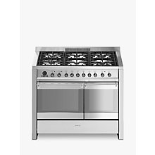 Buy Smeg A2PY-8  Dual Fuel Range Cooker, Stainless Steel Online at johnlewis.com