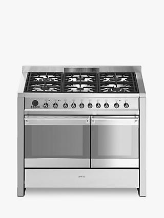 Smeg A2PY-8 Dual Fuel Range Cooker, Stainless Steel