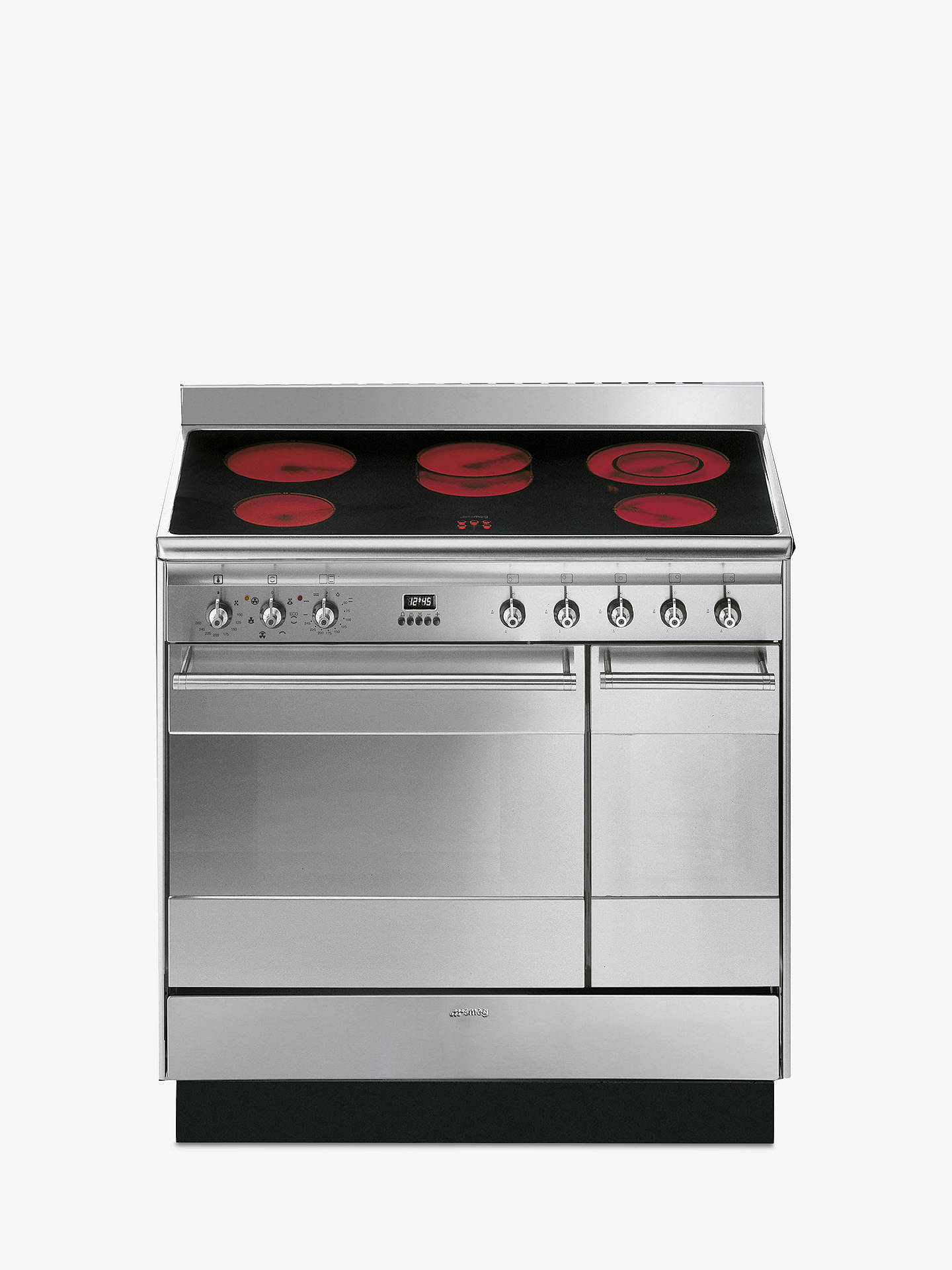 Buy Smeg SUK92CMX9 Double Range Cooker with Ceramic Hob, Stainless Steel Online at johnlewis.com