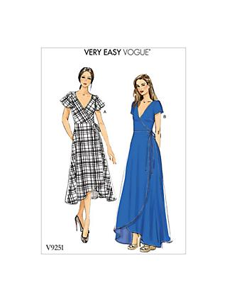 Vogue Women's Dress Sewing Pattern, 9251