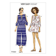 Buy Vogue Women's Jumpsuit and Playsuit Sewing Pattern, 9260 Online at johnlewis.com