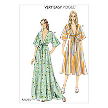 Buy Vogue Very Easy Women's Dresses Sewing Pattern, 9253 Online at johnlewis.com