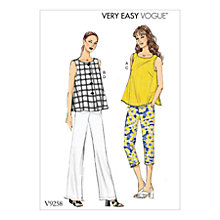 Buy Vogue Women's Blouse and Trousers Sewing Pattern, 9258 Online at johnlewis.com