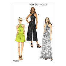 Buy Vogue Women's Jumpsuit and Playsuit Sewing Pattern, 9259 Online at johnlewis.com