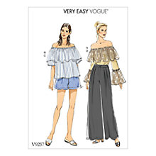 Buy Vogue Women's Top and Trousers Sewing Pattern, 9257 Online at johnlewis.com