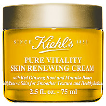 Buy Kiehl's Pure Vitality Skin Renewing Cream, 75ml Online at johnlewis.com