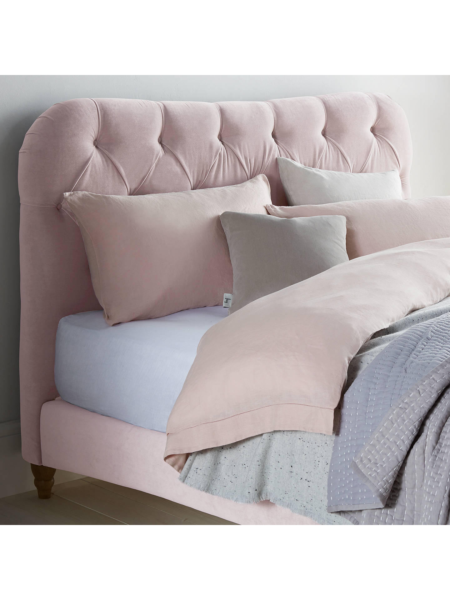 BuyBrioche Bed Frame by Loaf at John Lewis in Brushed Cotton, Double, Faded Pink Online at johnlewis.com