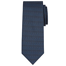Buy Calvin Klein Tonal Triangle Silk Tie, Navy Online at johnlewis.com