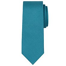 Buy Calvin Klein Semi Plain Silk Tie, Teal Online at johnlewis.com