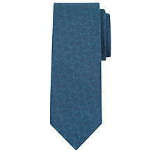 Buy Calvin Klein Tonal Circle Silk Tie, Teal Online at johnlewis.com