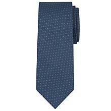 Buy Calvin Klein Jacquard Pin Dot Silk Tie, Navy Online at johnlewis.com