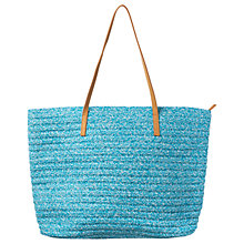 Buy Phase Eight Charlotte Beach Bag, Aqua Online at johnlewis.com