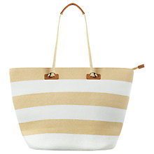 Buy Phase Eight Debbie Stripe Beach Bag, Neutral Online at johnlewis.com