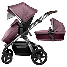 Buy Silver Cross Wave Pushchair and Carrycot, Claret Online at johnlewis.com