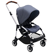 Buy Bugaboo Bee5 Complete Pushchair and Canopy, Blue Melange Fabric Online at johnlewis.com
