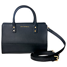 Buy Lulu Guinness Daphne Smooth Leather Mini Cross Body Bag, Black Online at johnlewis.com