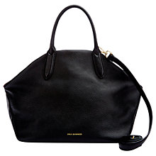 Buy Lulu Guinness Valentina Peekaboo Grainy Leather Large Shoulder Bag, Black Online at johnlewis.com