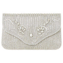 Buy Dune Ezzo Beaded Clutch Bag, Silver Online at johnlewis.com