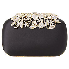 Buy Dune Emberrs Box Clutch Bag, Black Online at johnlewis.com