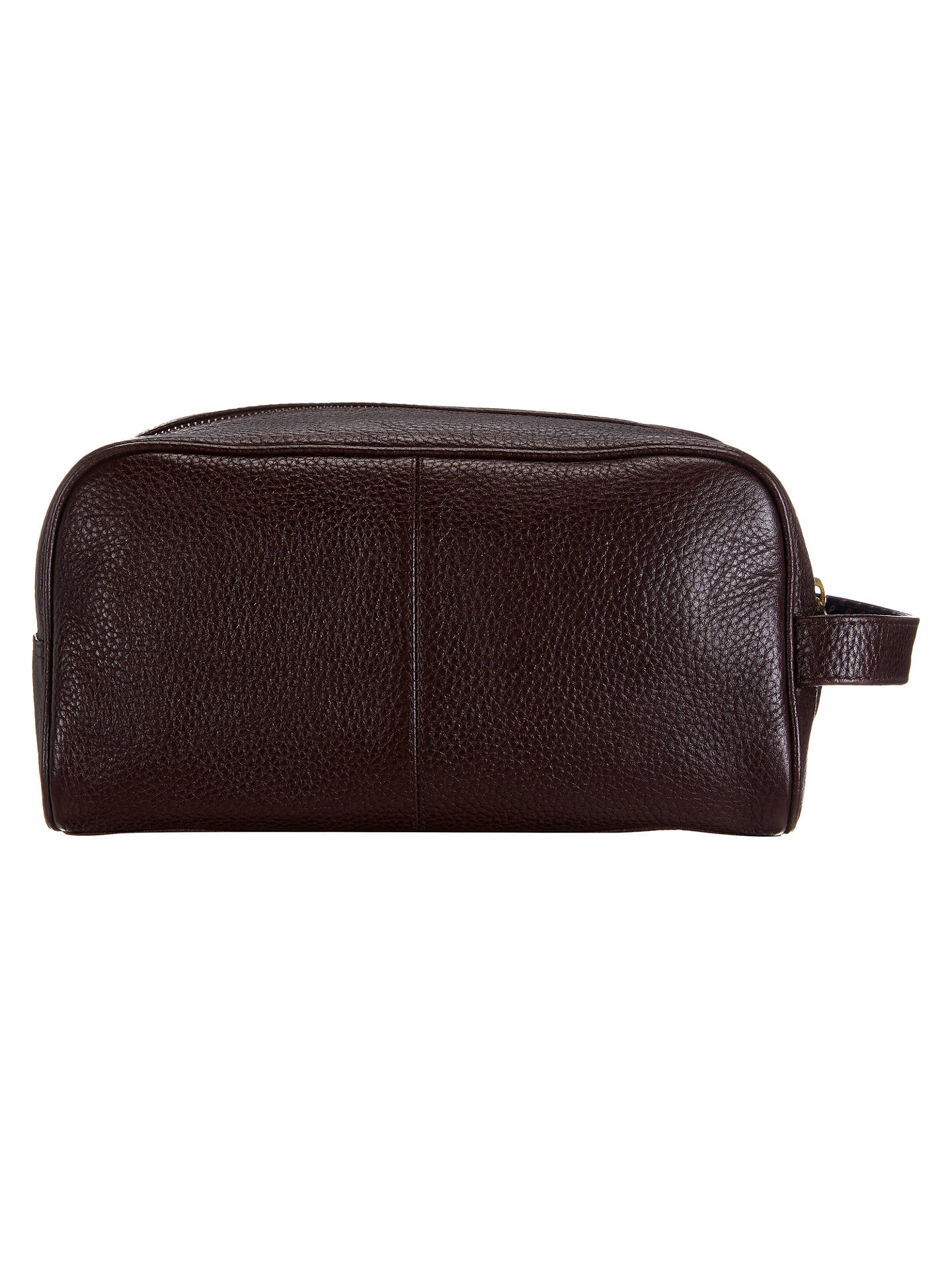f027157f1d88 Buy John Lewis & Partners Katta Aniline Leather Wash Bag, Oxblood Online at  johnlewis.