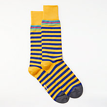 Buy Paul Smith Yellow Stripe Socks, One Size, Yellow/Multi Online at johnlewis.com