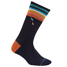 Buy Paul Smith Feather Socks, One Size, Navy/Multi Online at johnlewis.com