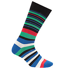 Buy Paul Smith Barcode Stripe Socks, One Size, Multi Online at johnlewis.com