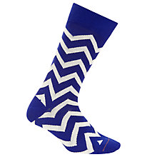 Buy Paul Smith Zig Zag Socks, One Size, Blue/White Online at johnlewis.com