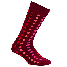 Buy Paul Smith Gradient Polka Dot Socks, One Size, Pink Online at johnlewis.com