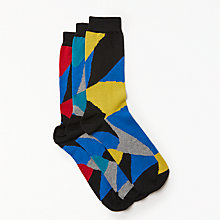 Buy Kin by John Lewis Ripple Socks, Pack of 3, One Size, Multi Online at johnlewis.com