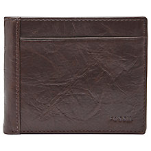 Buy Fossil Neel Coin Pocket Wallet, Brown Online at johnlewis.com