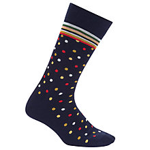 Buy Paul Smith Mixer Dot Socks, One Size, Navy/Multi Online at johnlewis.com