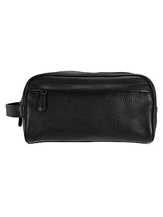 John Lewis & Partners Katta Aniline Leather Wash Bag