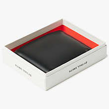 Buy PS by Paul Smith Cycling Print Interior Leather Billfold Wallet, Black Online at johnlewis.com
