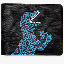 Buy Paul Smith Dinosaur Leather Wallet, Black Online at johnlewis.com