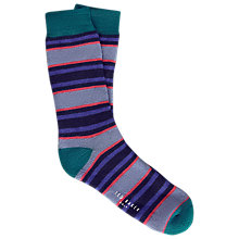 Buy Ted Baker Birdee Stripe Golf Socks, One Size Online at johnlewis.com