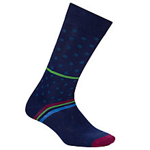 Buy Paul Smith Lido Polka Dot Socks, One Size, Blue Online at johnlewis.com